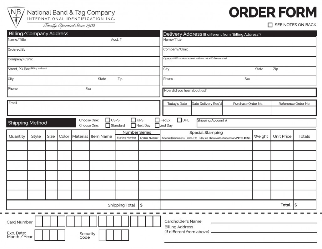 Home National Band Tag Company Order Form Image 1030x797 Hasco Tag Company  Business Order Templates Sample  Local Purchase Order Format