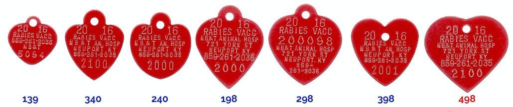 2016 rabies tags