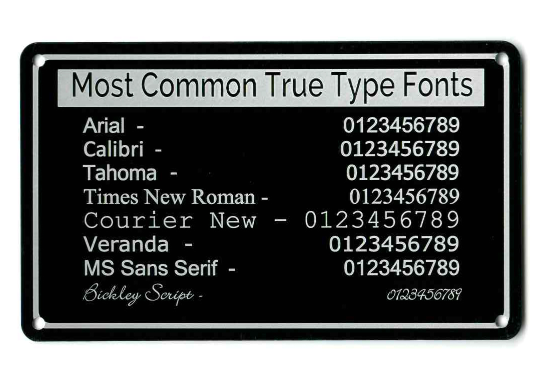 text fonts on tags
