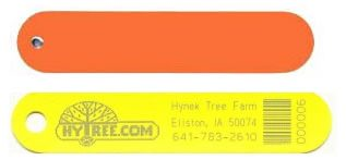 plastic laser etched plant labels