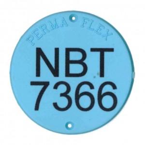 round plastic tag