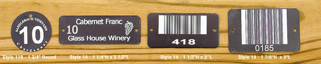 black uv stable vineyard labels