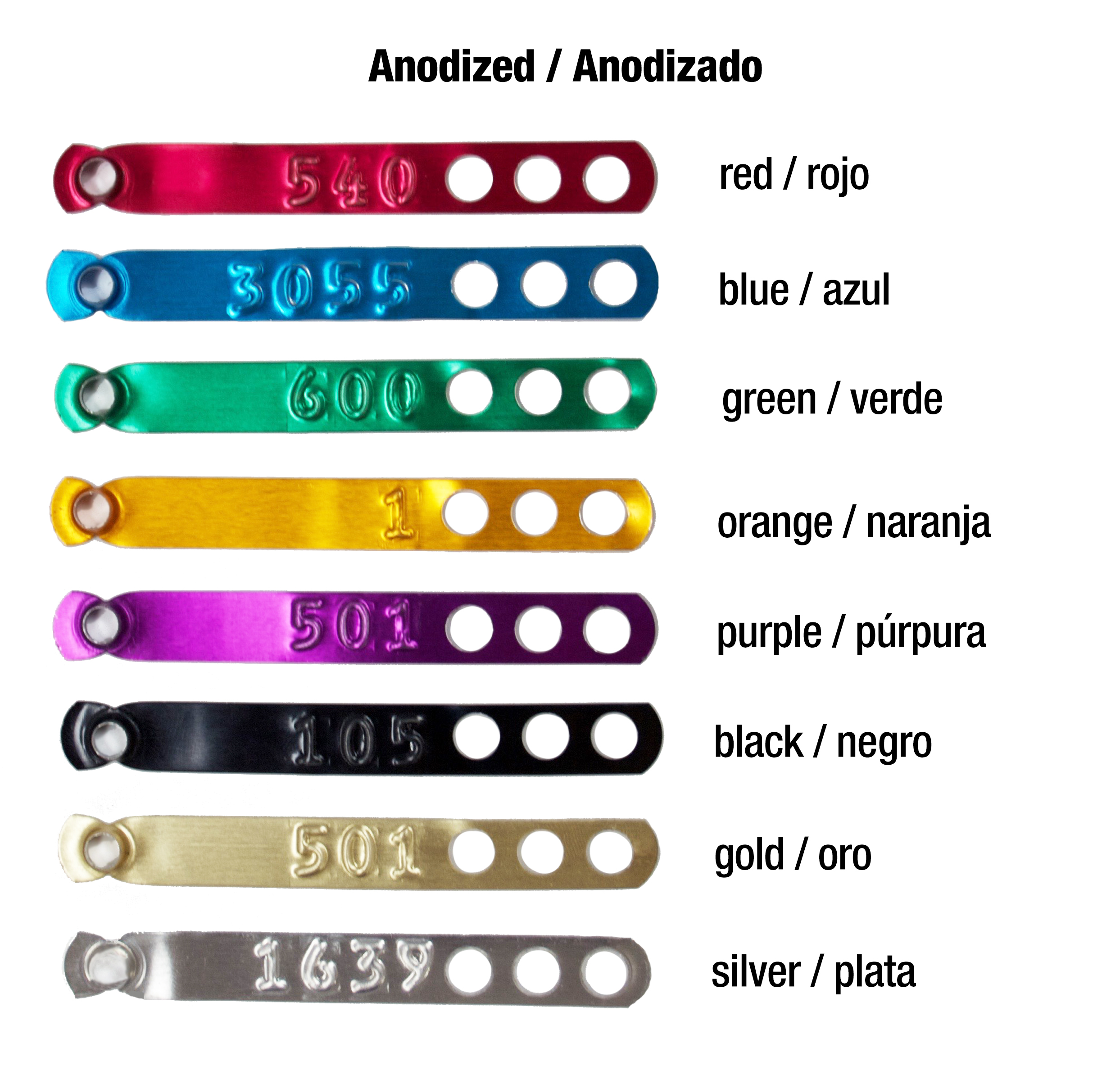 anodized legbands