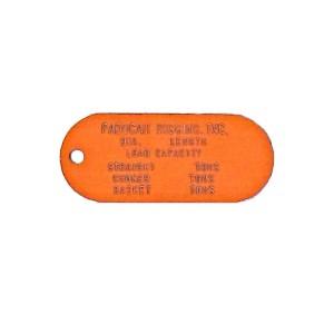orange asset tag