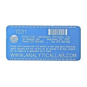 blue laser etched asset tag