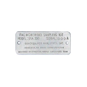 stamped asset tag
