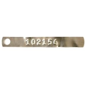 light gauge aluminum tag