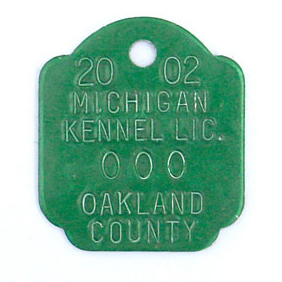 green stamped tag style 73
