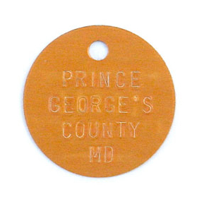 orange stamped tag