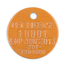 round stamped tag
