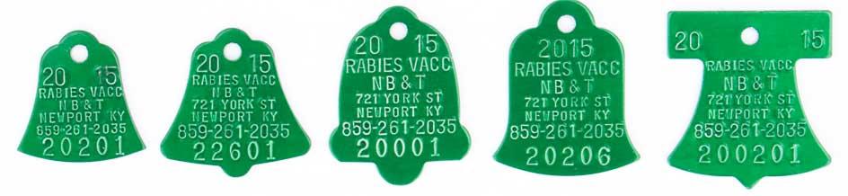 2015 rabies tags