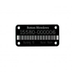 black bar coded tag