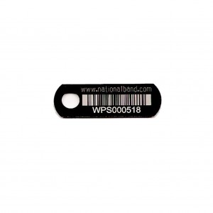 linear barcode on tag