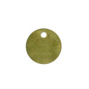 brass blank tag