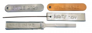 write on tags