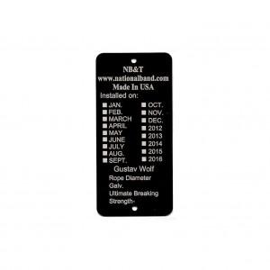 black elevator tag