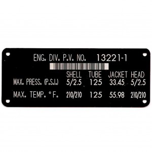 black inspection tag