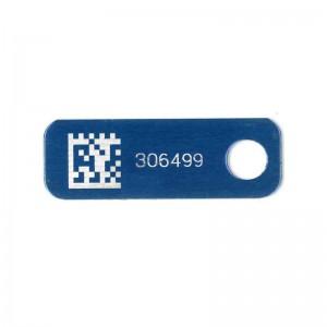 blue asset tag