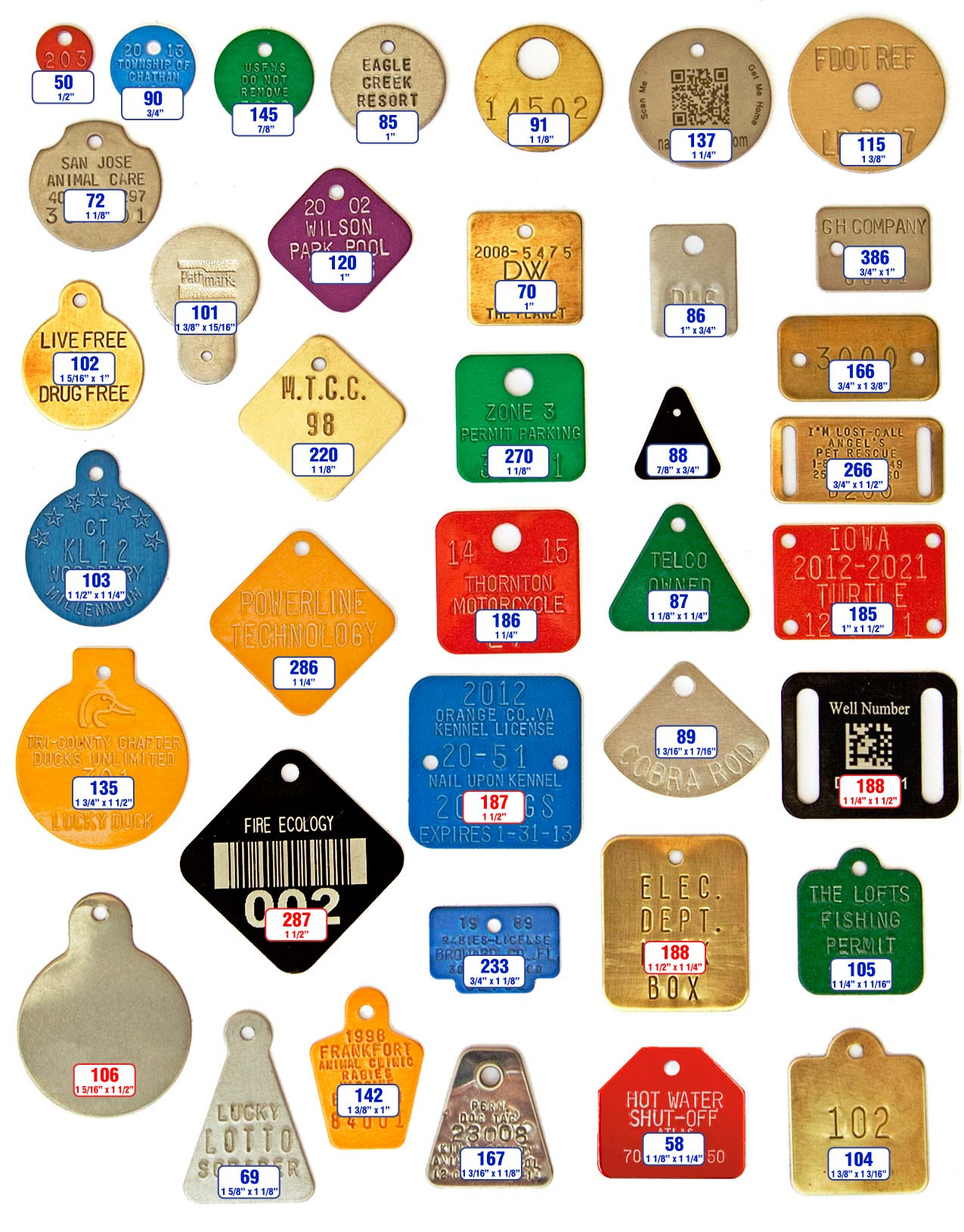 dog license tags