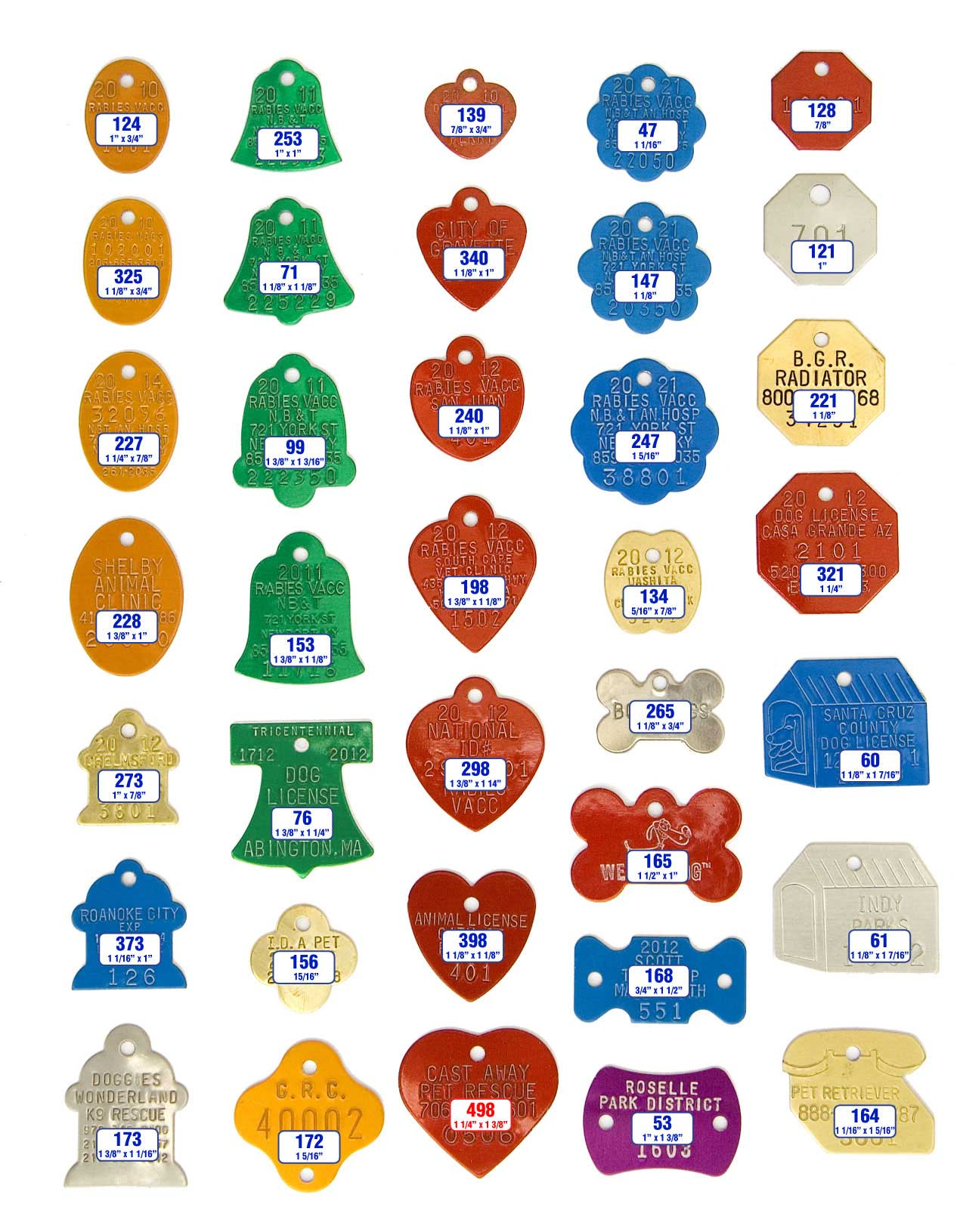 dog tag shapes