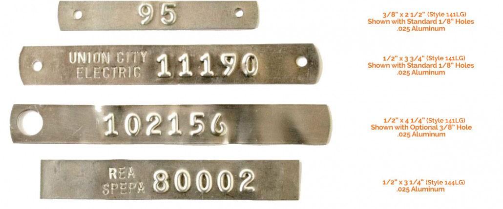 light gauge tags