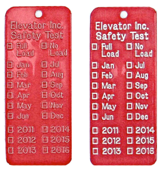 enhanced stamped elevator tags