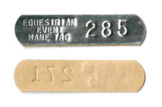 horse mane tag