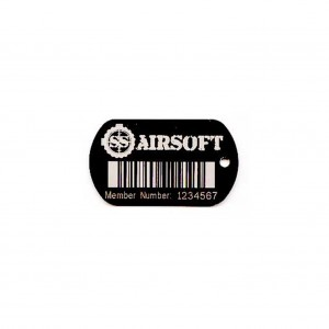 logo and barcode on tag