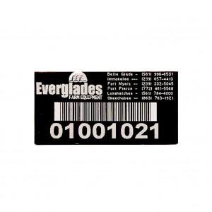 machine asset tag