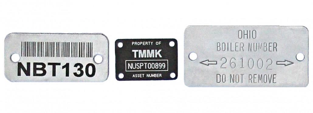 metal asset tags