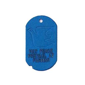 blue military gi tag