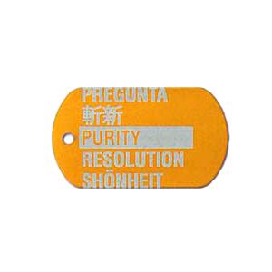 orange military tag