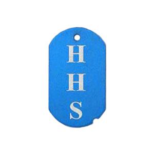 blue school spirit tag