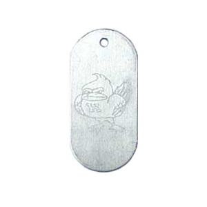 aluminum school spirit tag
