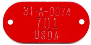 adhesive backed tag