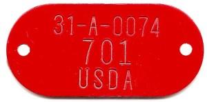 adhesive backed tag