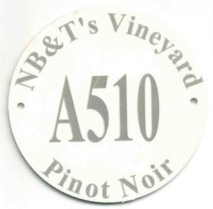 plastic vineyard tag