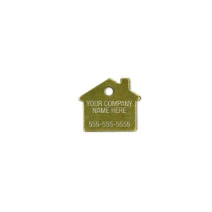 brass house tag