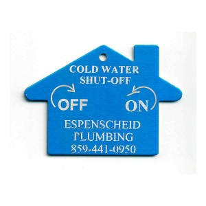 water shut off tag