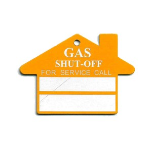 gas shut off tag