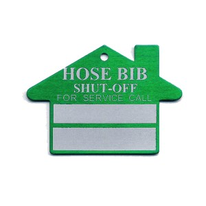 hose bib shut off tag