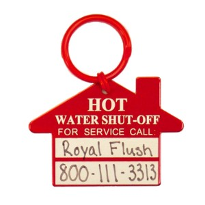 hot water shut off tag