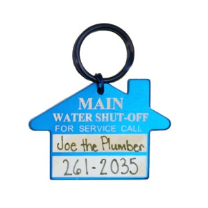 main water shut off tag
