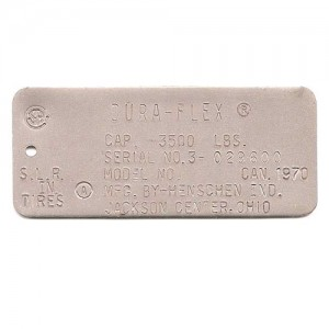 stainless steel tag logo stamped