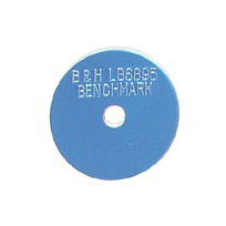 blue survey marker