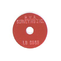 red survey marker