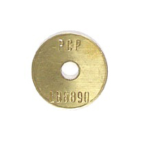 gold survey marker