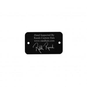signature on metal tag