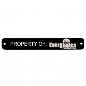 black asset tag