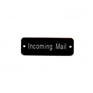 black engraved tag